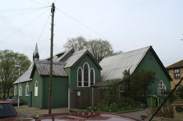 Cyprus Road Tin Tabernacle, rear view