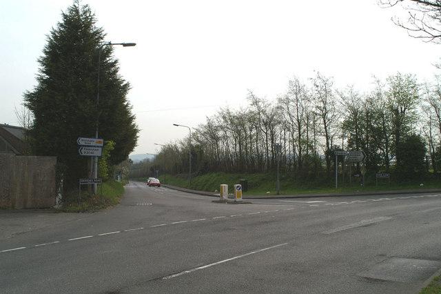 The turning to Graveney outside Faversham
