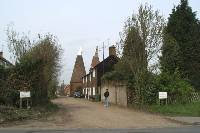 Oast houses off the A2