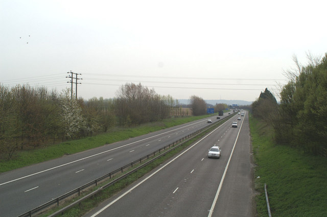 Eastwards on the M2
