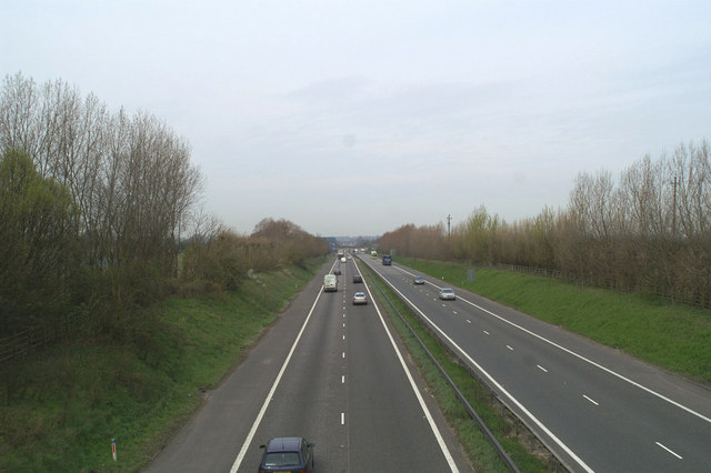 Westwards on the M2