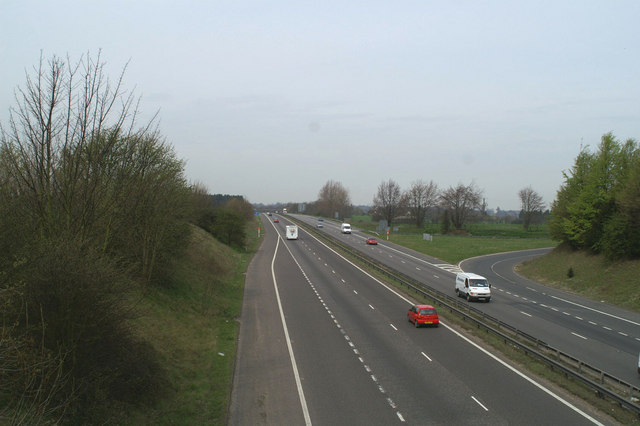 Westwards on the M2 at Copton
