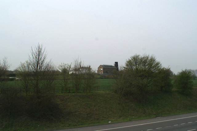 Copton Pumping Station, with windmill remains