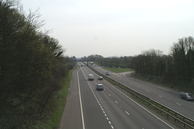Eastwards on the M2 at Copton