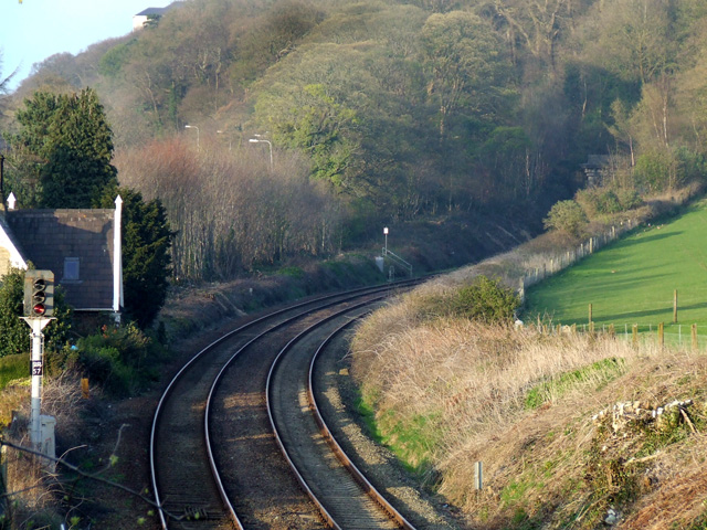 Last signal before the Bangor railway tunnel