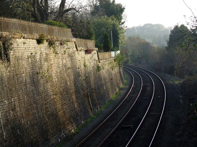 Railway cutting outside Bangor