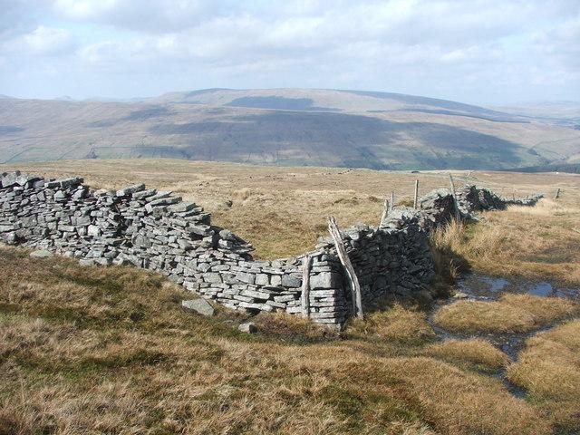 Drystone wall corner.