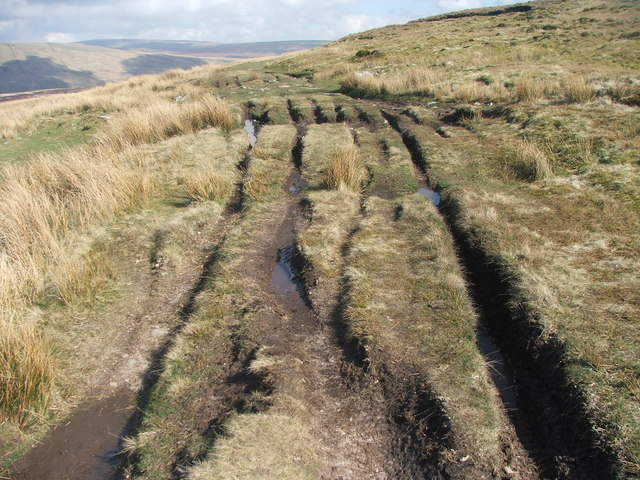 Damage to bridleway caused by off road motorcyclists.