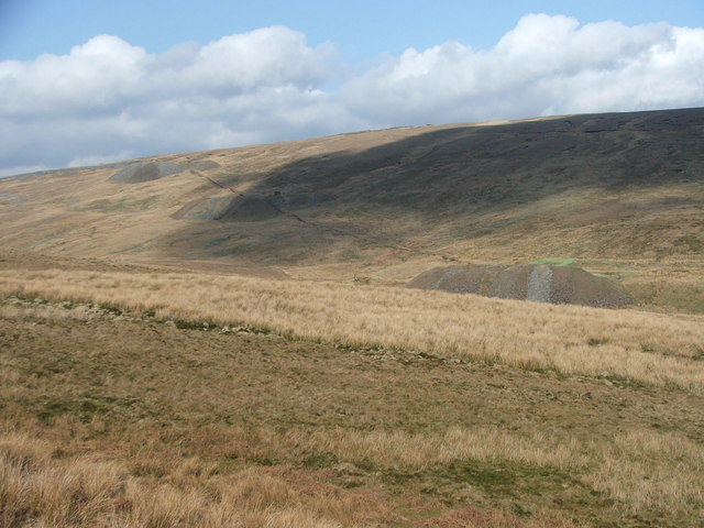 Spoil heaps and airshafts.