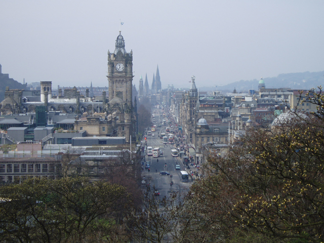 Princes Street from Calton Hill, Edinburgh