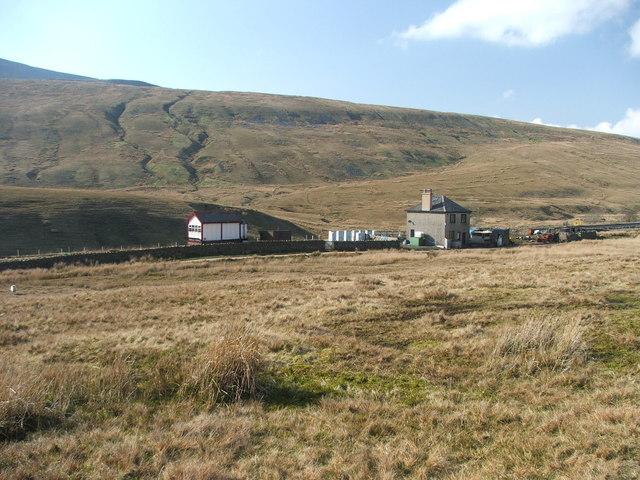 Blea Moor signal box.
