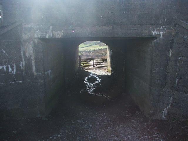 Tunnel beneath railway at Blea Moor Sidings.