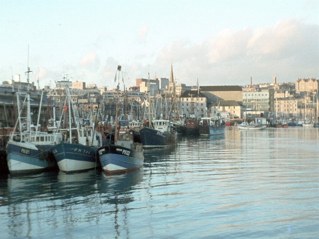 Fishing vessels in Sutton Harbour