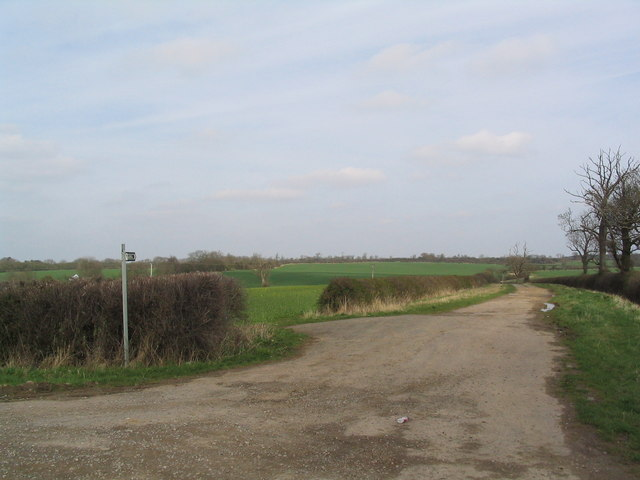 Bridleway south of South Witham