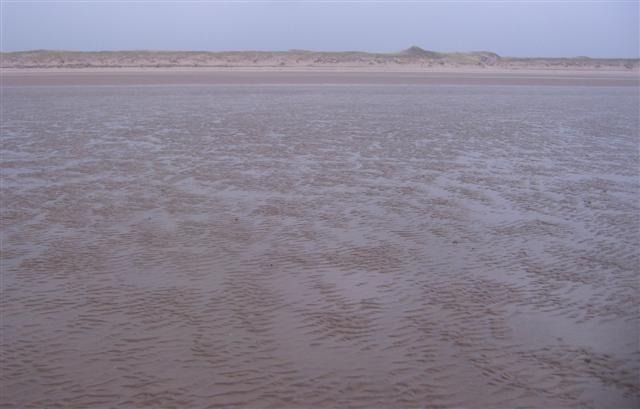 Beach and sandunes at Drigg