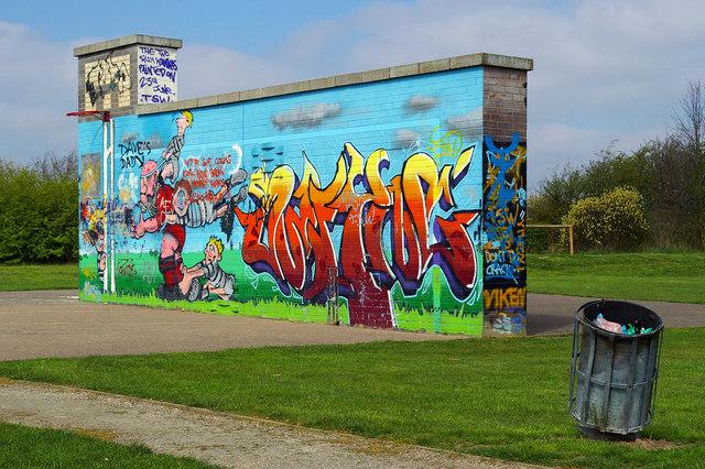 Graffiti Wall, Sweyne Park