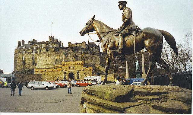 Earl Haig Statue, Edinburgh Castle Esplanade.