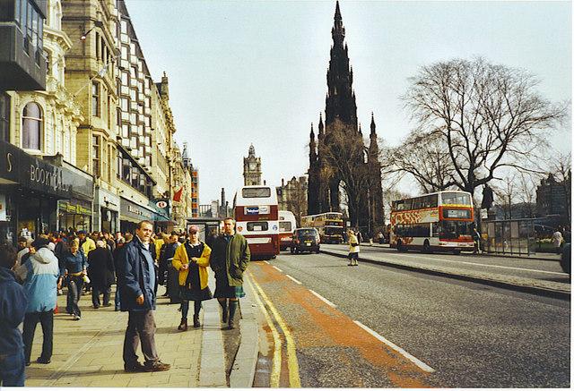 Looking East Along Princes Street.