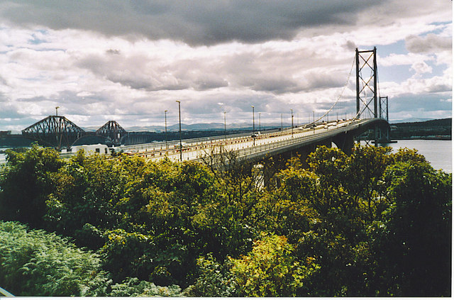 Northern Approach to Forth Road Bridge.