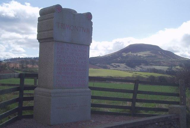 Monument marking site of Roman Fort of Trimontium