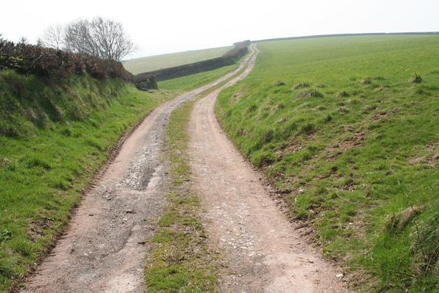Brompton Ralph: track near Elworthy Barrows