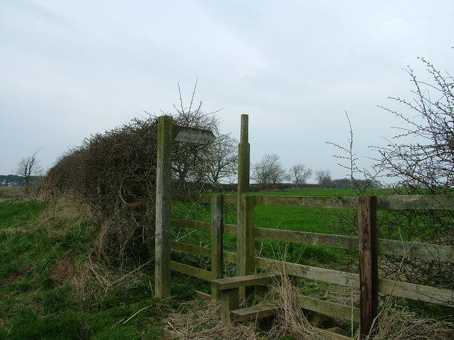 Public Footpath to West Newham Farm