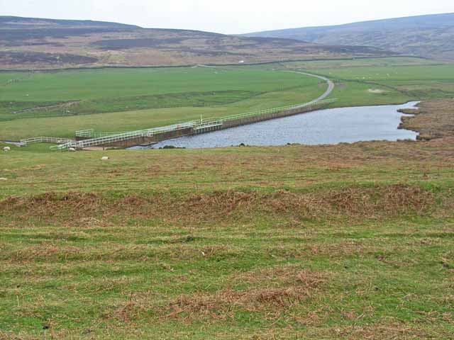 Burnhope Burn Reservoir above Edmondbyers