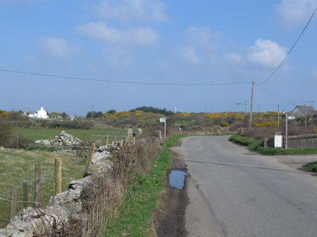 Approaching Four Mile Bridge from Rhoscolyn
