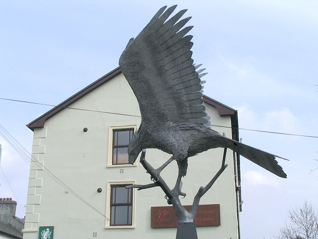 Red Kite sculpture at Llanwrtyd Wells