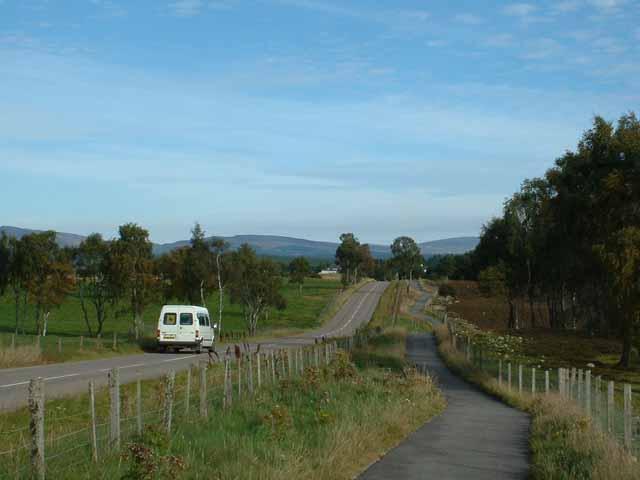 Cycleway alongside the road to Boat of Garten