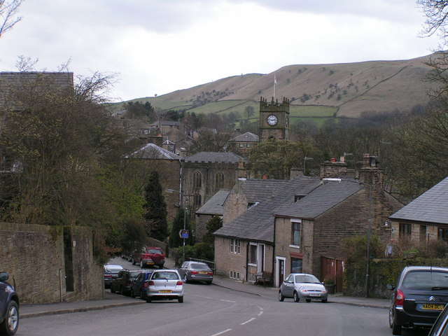 Hayfield from the north
