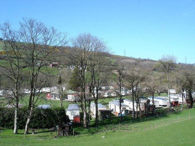 Caravan site on the Afon Elwy