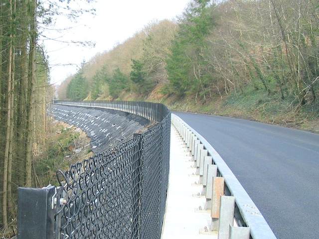 Road improvement on A483 south of the Sugar Loaf