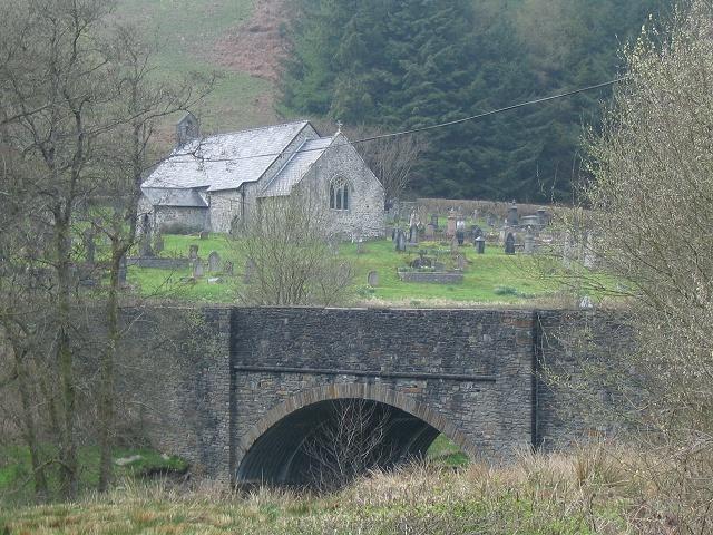 Pontnewydd bridge & church near Llanwrtyd Wells