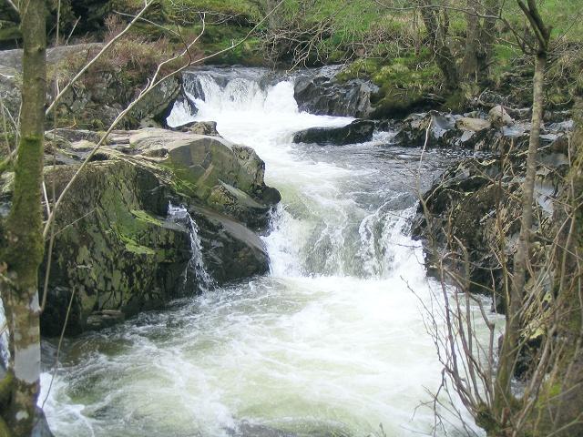 Waterfalls on river Irfon