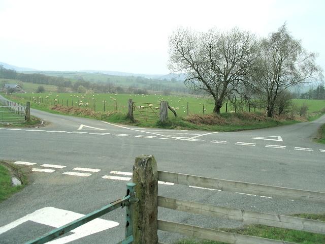 Five-way junction at Cefn Glancamddwr