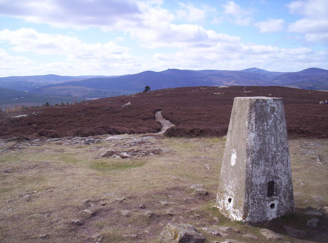 Trig Point and Mearns Hills from the North