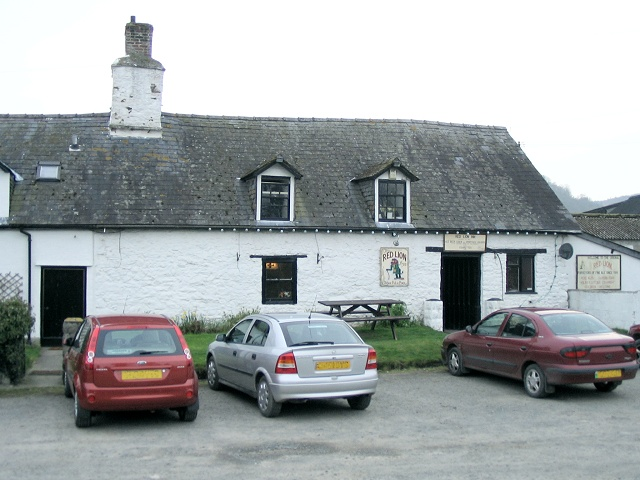 The Red Lion pub at Llanafan-fawr