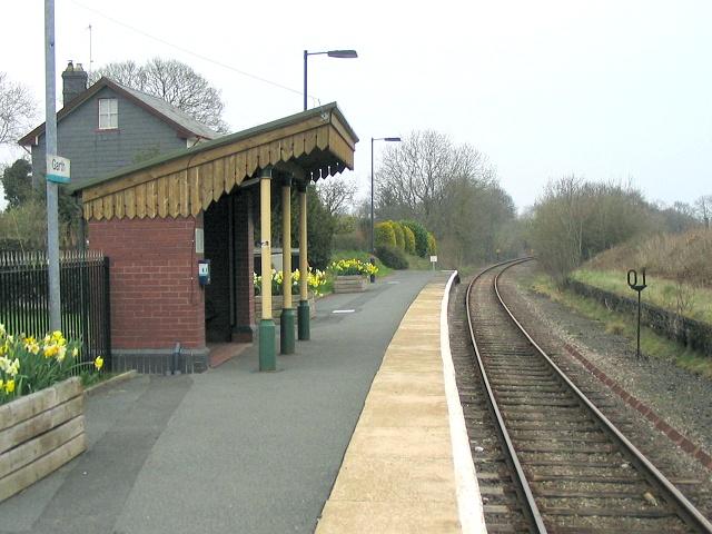 Garth railway station
