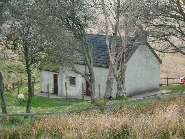 House at Ffrwd-wen on Epynt mountain