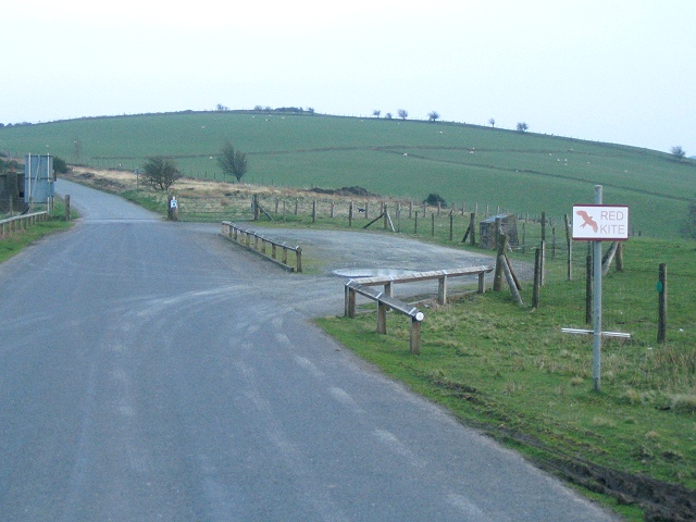 Viewpoint on B4519 at south edge of Sennybridge range