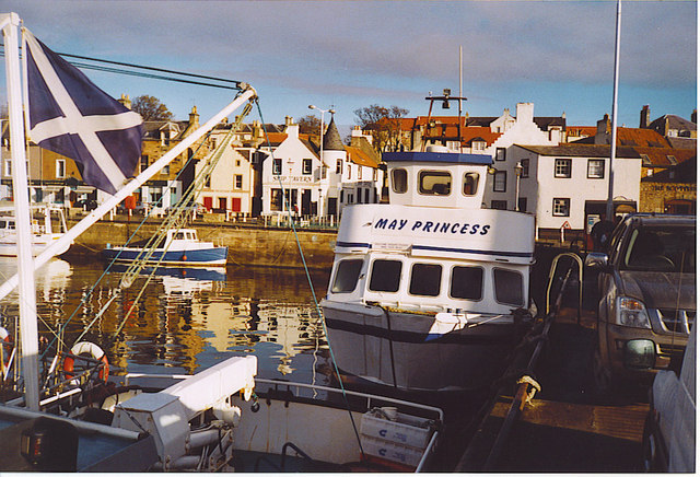"""May Princess"" at Anstruther Harbour."