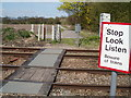 SJ7074 : Footpath Rail Crossing by Ian Warburton