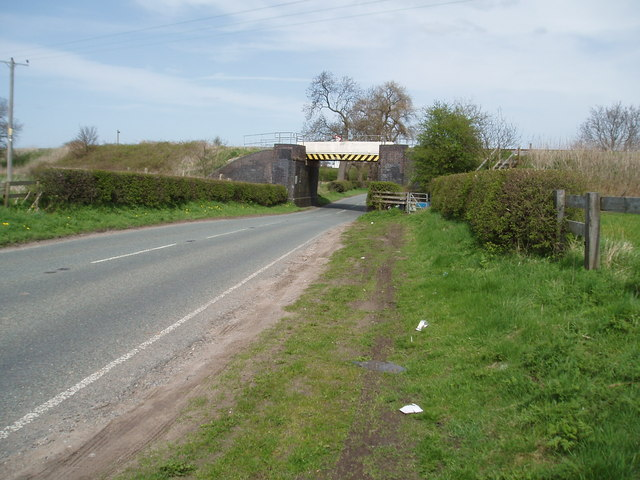 Rail bridge over Croxton Lane(A530) Nr Middlewich