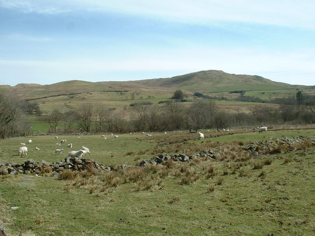Farmland and Moel Oernant