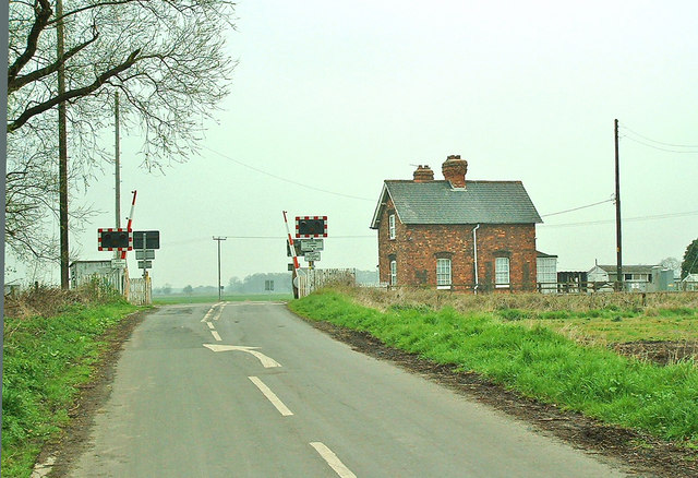 Carlton Nr Goole Railway Crossing on Linwith Lane