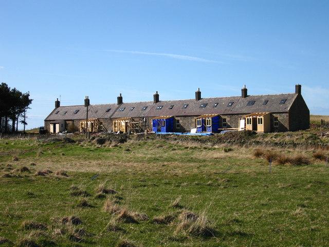 Farm Cottages at Dowlaw, near Coldingham
