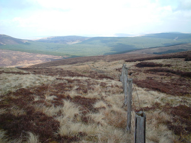 Looking down from Panbreck Hill