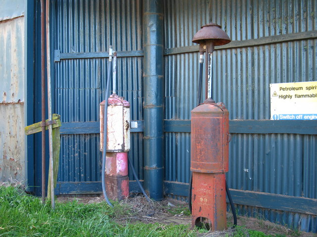 Petrol Pumps at Redheugh Farm