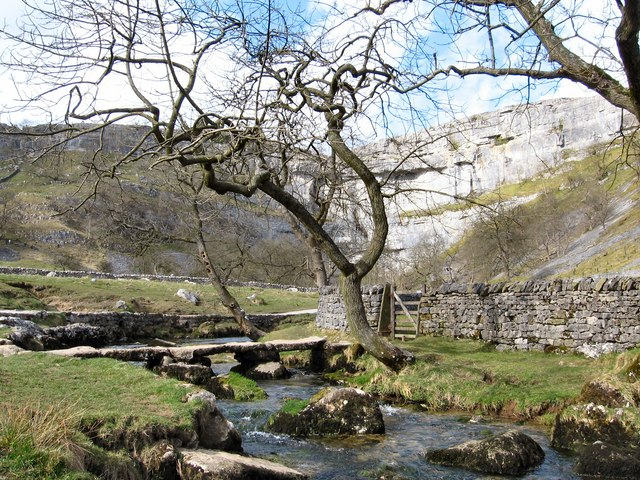 Clapper Bridge over Malham Beck